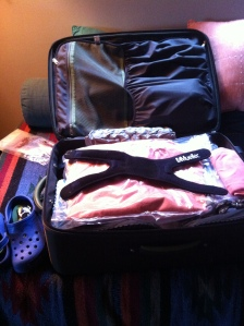 Rule #2:  According to my mother, Janet Cloninger, it is never to early to pack your bag.