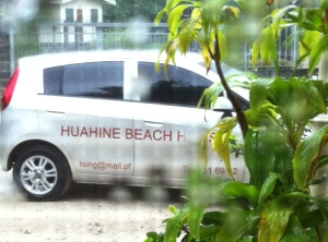 Rainy small French car